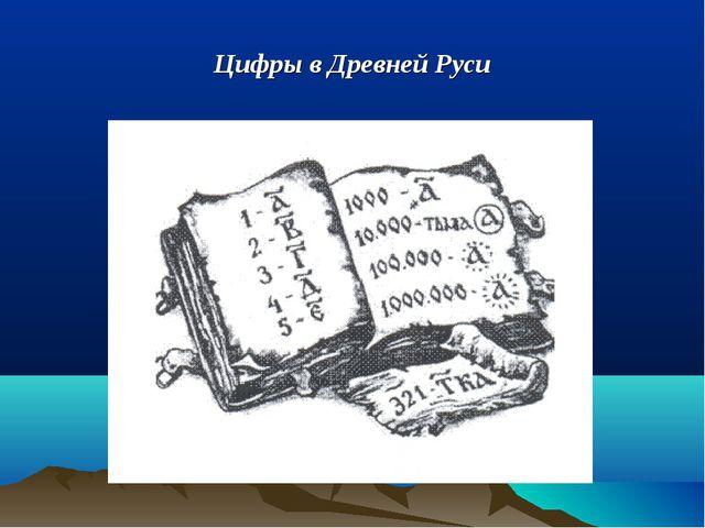 Цифры в Древней Руси