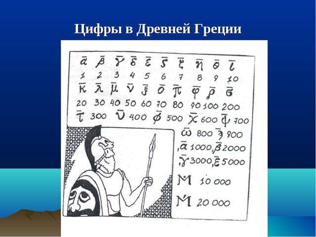 Цифры в Древней Греции