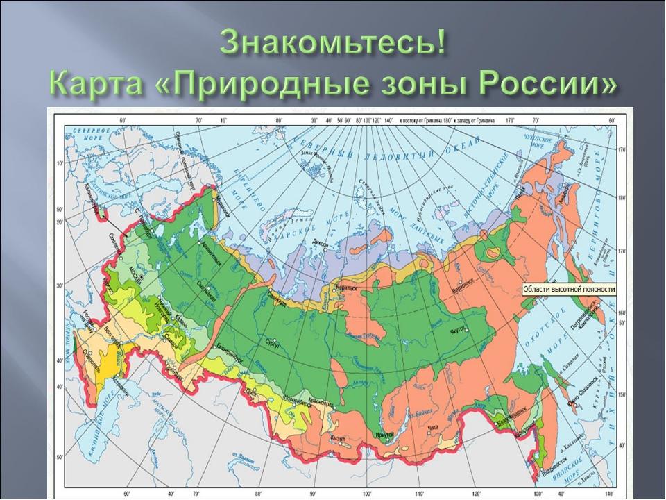 природный зоны россии
