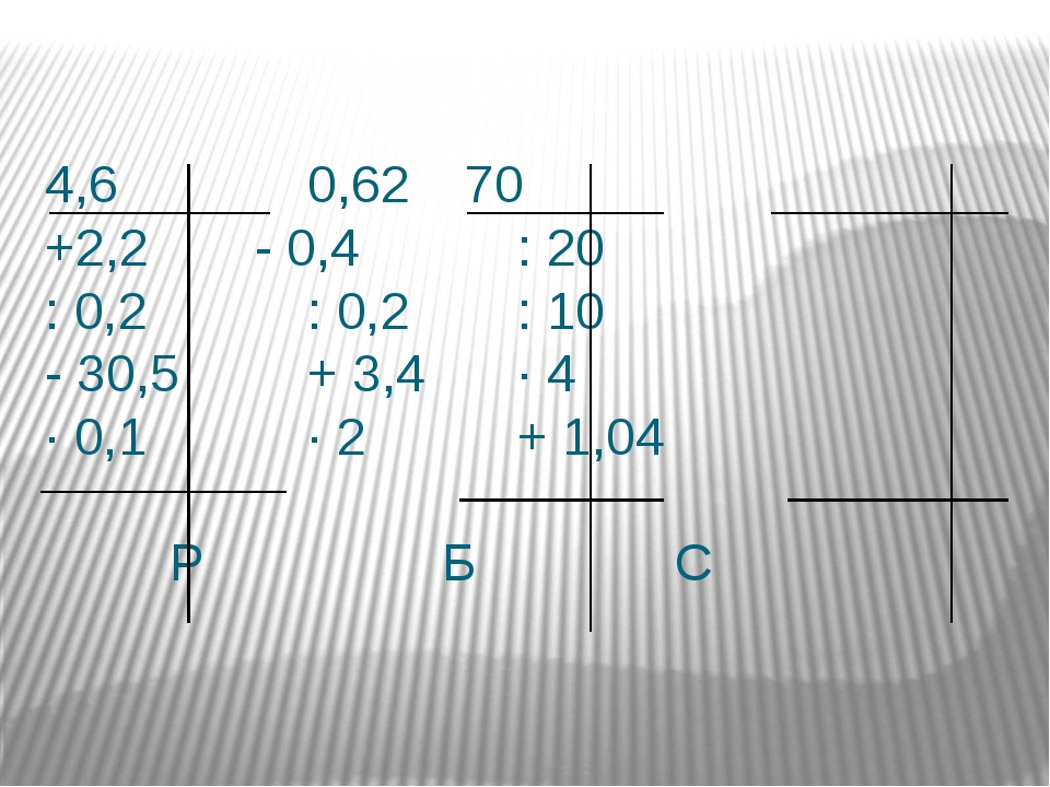 4,60,6270 +2,2- 0,4: 20 : 0,2: 0,2: 10 - 30,5+ 3,4∙ 4...