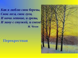 Как я люблю свои березы, Свои леса, свои луга, И ночи летние, и грозы, И зиму