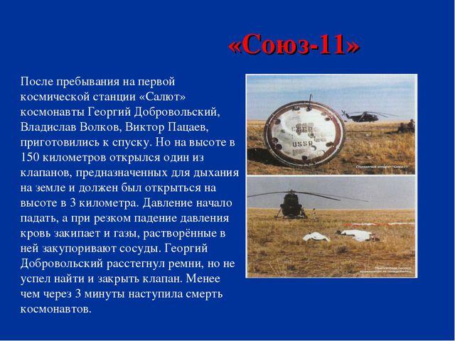 «Союз-11» . После пребывания на первой космической станции «Салют» космонавт...