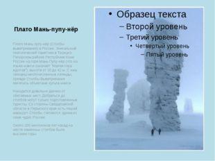 Плато Мань-пупу-нёр Плато Мань-пупу-нёр (Столбы выветривания) в России. Уника