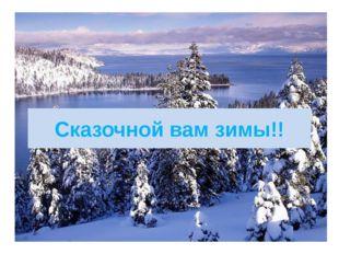 Сказочной вам зимы!!