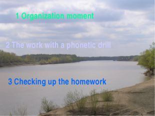 1 Organization moment 2 The work with a phonetic drill 3 Checking up the hom