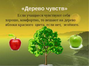 «Дерево чувств» Если учащиеся чувствуют себя хорошо, комфортно, то вешают на
