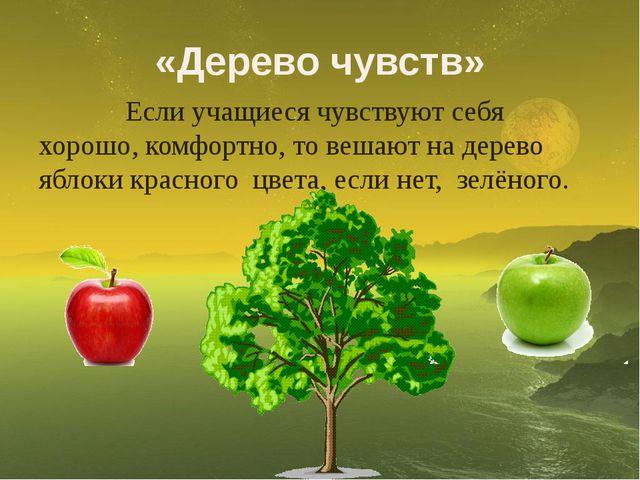 «Дерево чувств» Если учащиеся чувствуют себя хорошо, комфортно, то вешают на...