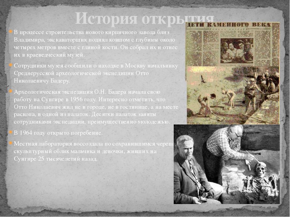 В процессе строительства нового кирпичного завода близ Владимира, экскаваторщ...