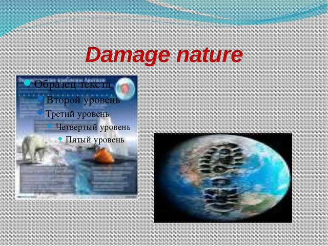 Damage nature