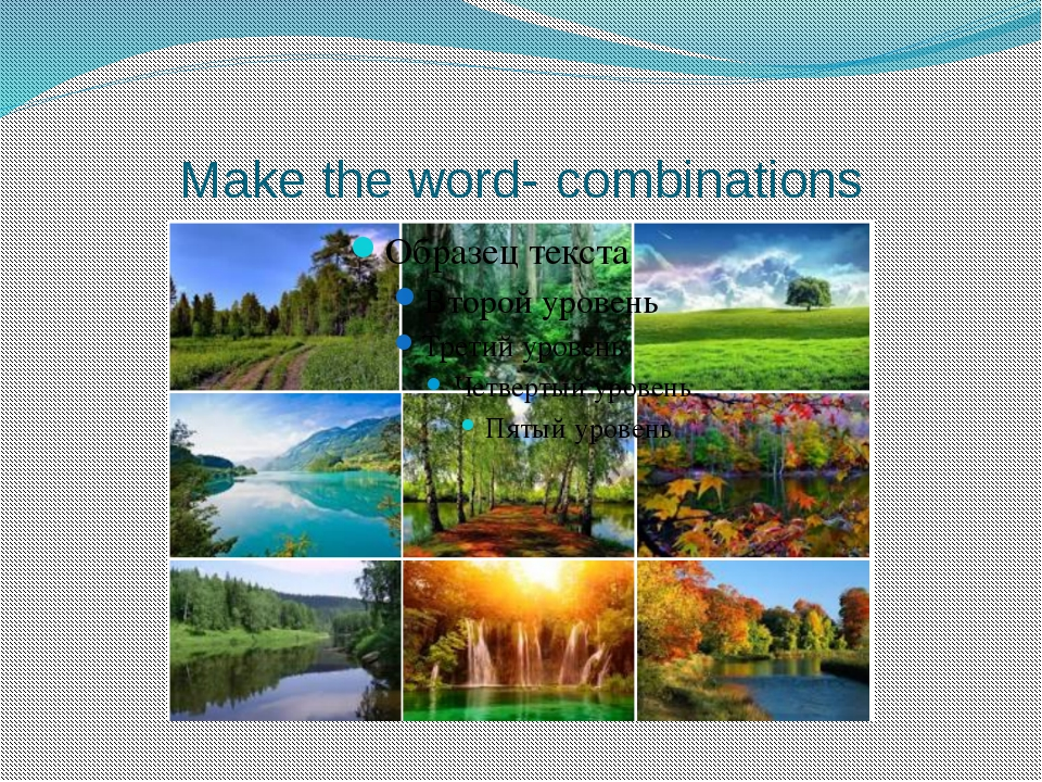 Make the word- combinations