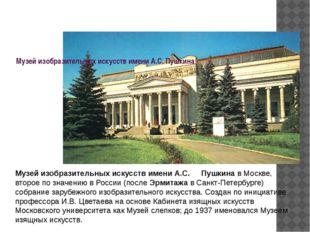Музей изобразительных искусств имени А.С.Пушкина Музей изобразительных иску