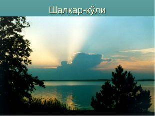 Шалкар-кўли