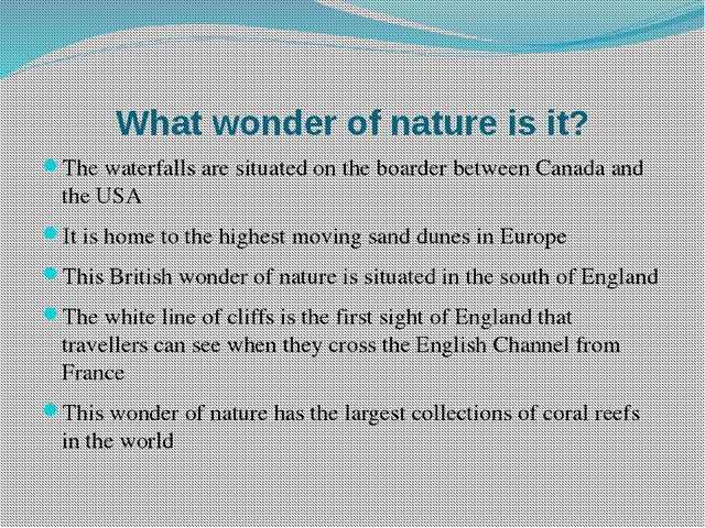 What wonder of nature is it? The waterfalls are situated on the boarder betwe...