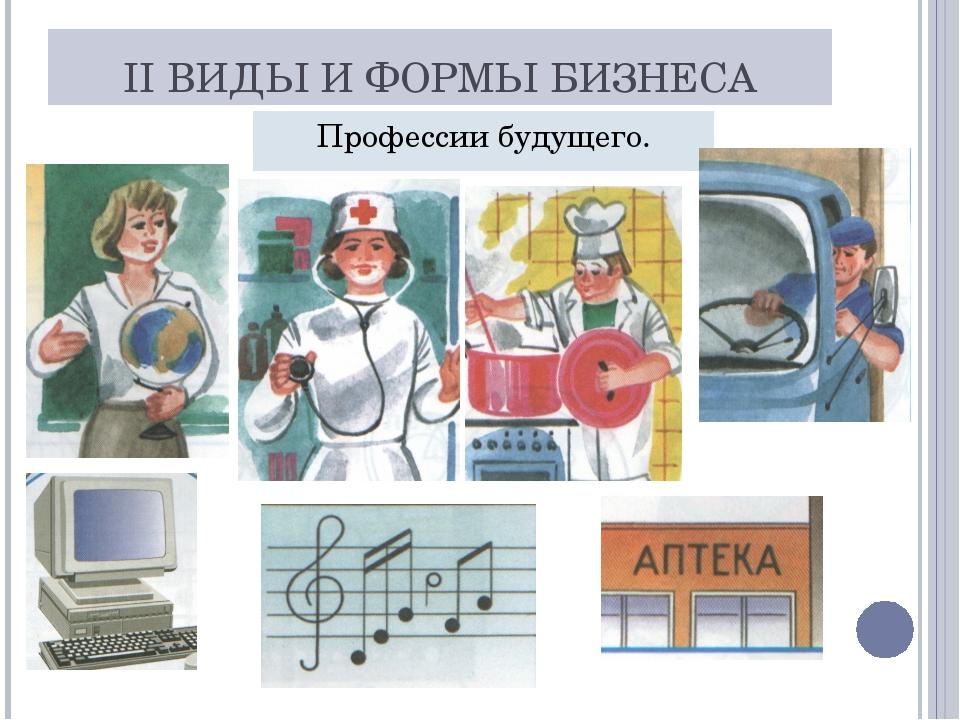 II ВИДЫ И ФОРМЫ БИЗНЕСА Профессии будущего.