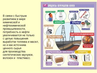 В связи с быстрым развитием в мире химической и нефтехимической промышленност