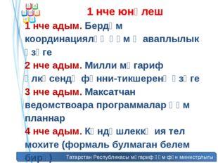 Татарстан Республикасы мәгариф һәм фән министрлыгы 1 нче юнәлеш 1 нче адым. Б