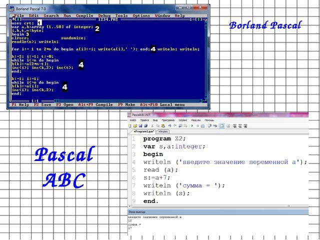 Borland Pascal Pascal ABC