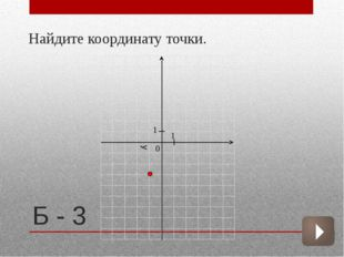Б - 3  Найдите координату точки. 1 1 0 у