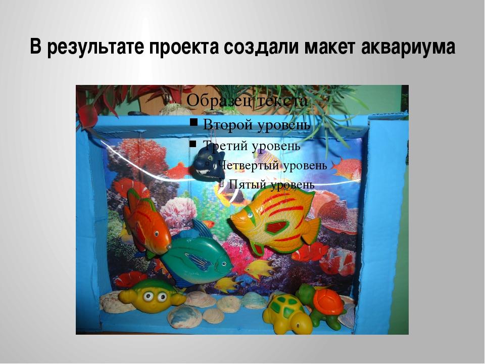 В результате проекта создали макет аквариума