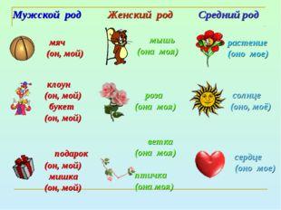 Женский род роза (она моя) растение (оно мое) ветка (она моя) птичка (она моя