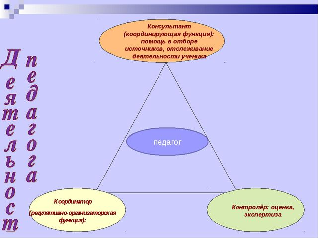 Координатор (регулятивно-организаторская функция): Консультант (координирующа...