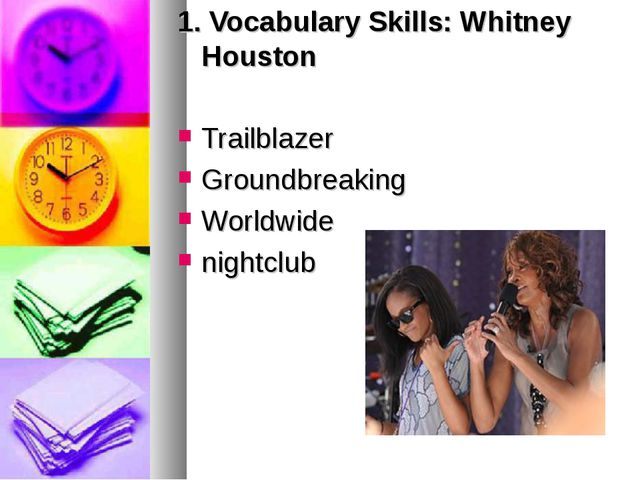 1. Vocabulary Skills: Whitney Houston Trailblazer Groundbreaking Worldwide ni...
