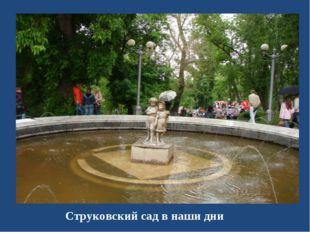 Струковский сад в наши дни