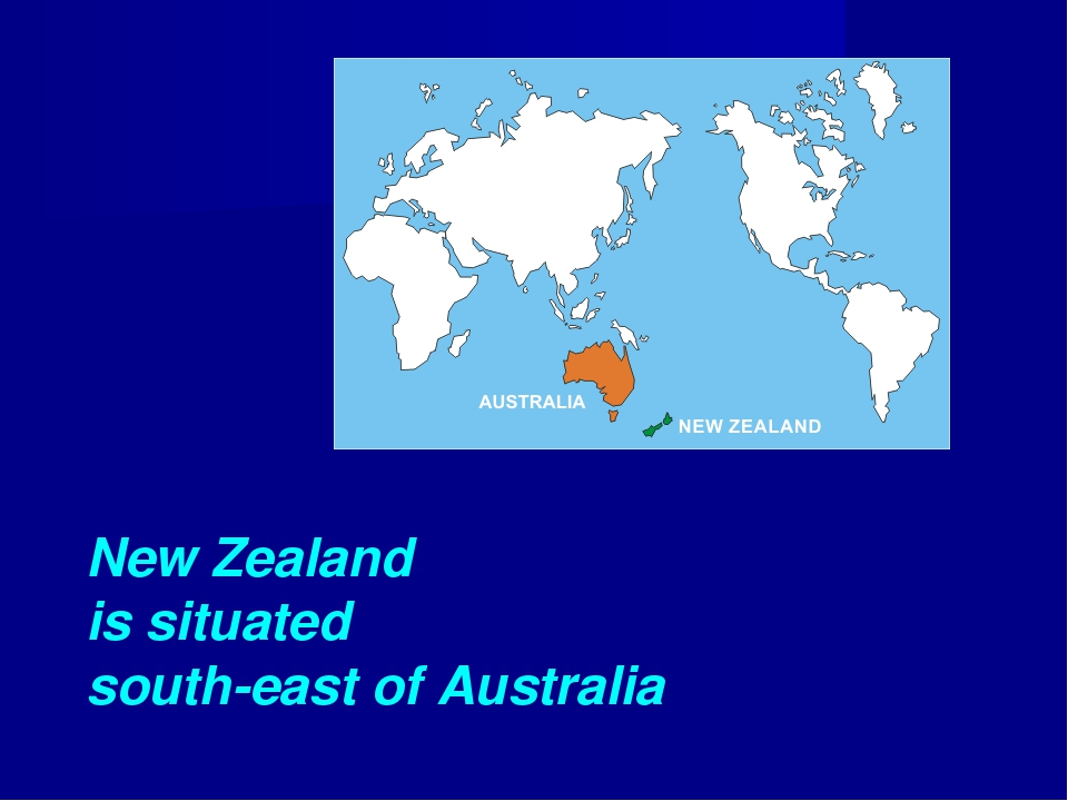 New Zealand is situated south-east of Australia