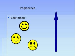 Рефлексия Your mood: