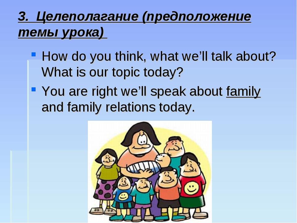 3. Целеполагание (предположение темы урока) How do you think, what we'll talk...