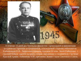 В течение 19 дней два батальона фашистов с артиллерией и минометами штурмовал