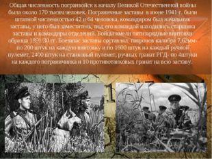 Общая численность погранвойск к началу Великой Отечественной войны была около