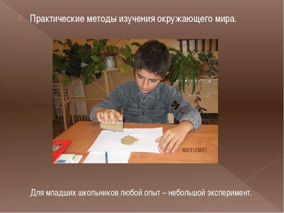 Практические методы изучения окружающего мира. Для младших школьников любой...
