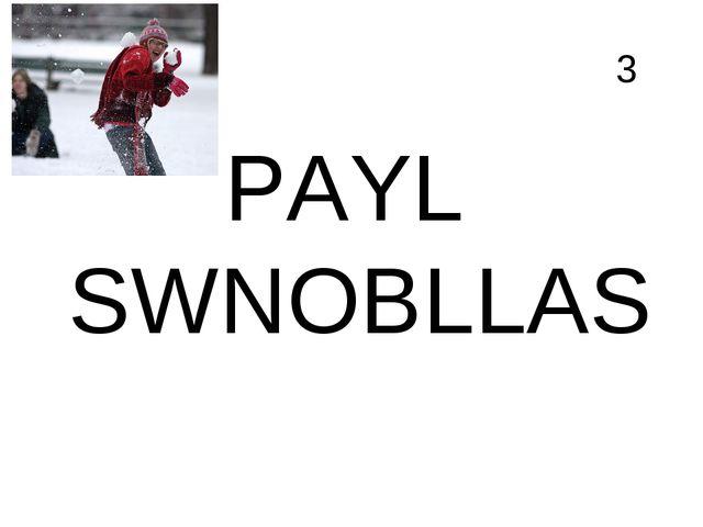 3 PAYL SWNOBLLAS