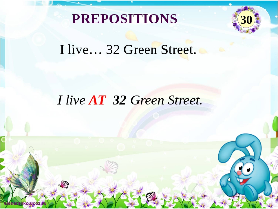 Linda went to the zoo ON Sunday. Linda went to the zoo …Sunday. PREPOSITIONS 20