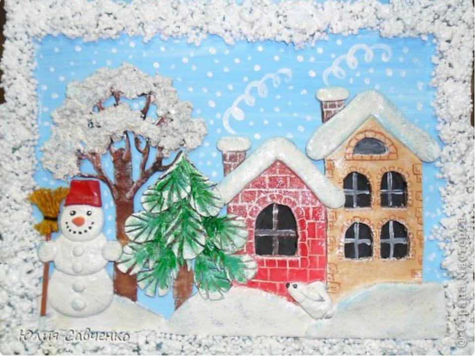Поделка на тему зимушка зима для детского сада