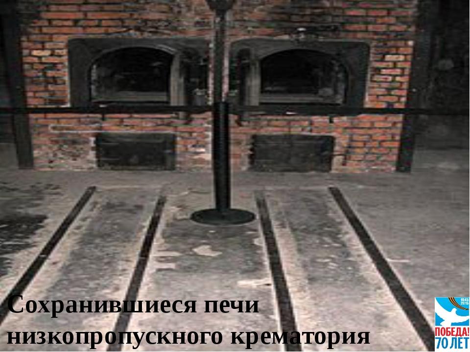 Сохранившиеся печи низкопропускного крематория