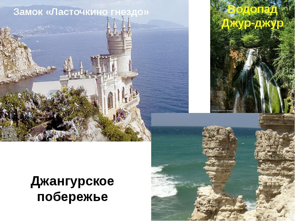 Водопад Джур-джур Замок «Ласточкино гнездо» Джангурское побережье