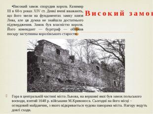 Останньою великою спорудою в системі львівських фортифікацій був Королівський
