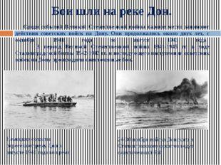 Бои шли на реке Дон. Среди событий Великой Отечественной войны важное место з