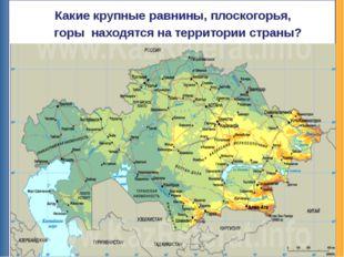 Какие крупные равнины, плоскогорья, горы находятся на территории страны? Низ
