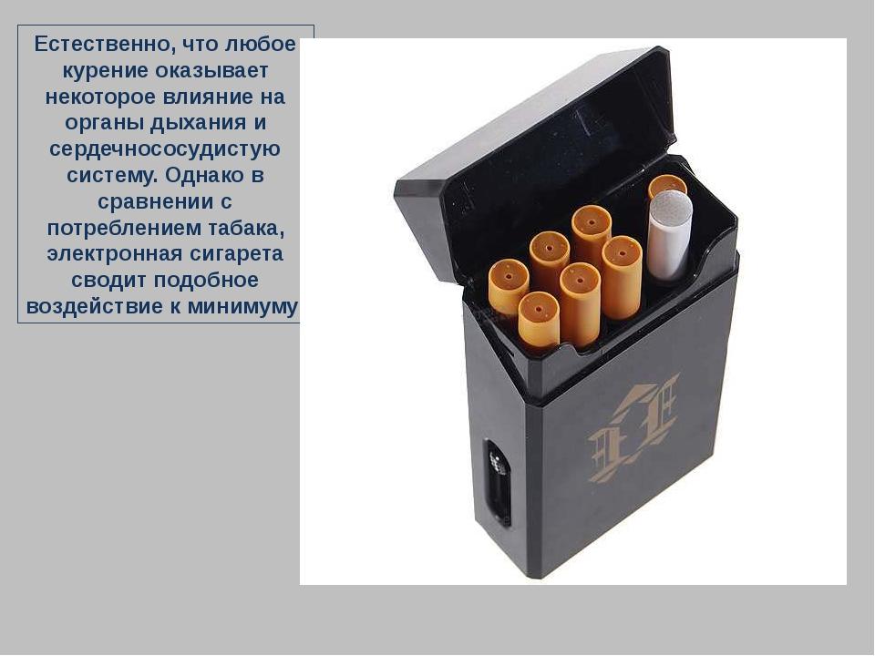Естественно, что любое курение оказывает некоторое влияние на органы дыхания...