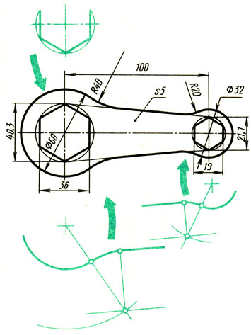 Рис. 76. Анализ контура изображения ключа