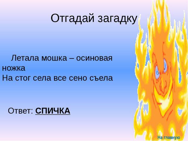 Запомни Знают все – человек без огня Не живет ни единого дня. При огне, как...