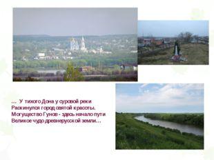 … У тихого Дона у суровой реки Раскинулся город святой красоты. Могущество Гу