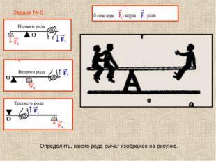 Задача № 6. Определить, какого рода рычаг изображен на рисунке.