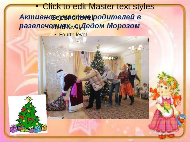 Активное участие родителей в развлечениях с Дедом Морозом