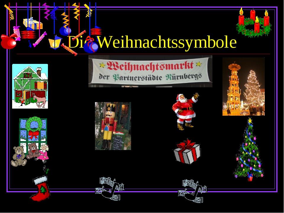 Die Weihnachtssymbole