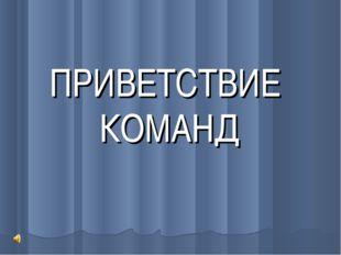 ПРИВЕТСТВИЕ КОМАНД