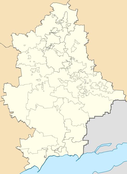 Донецкая область, карта